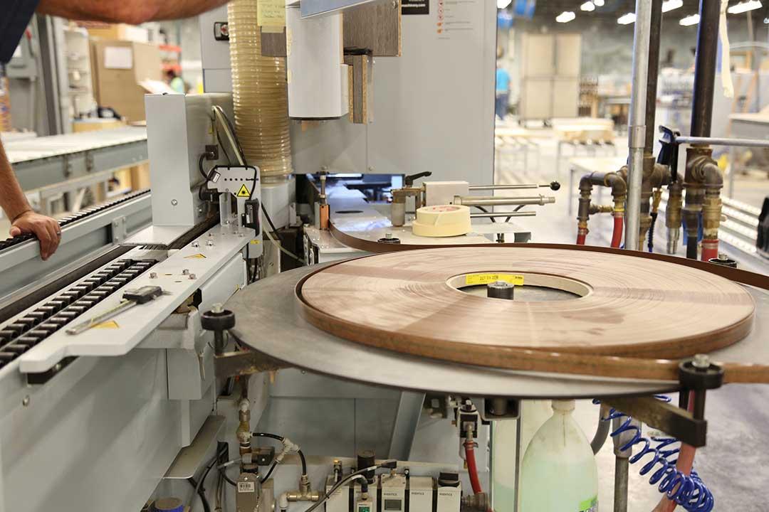 Roll of Edge Banding mounted on Edge banding machine