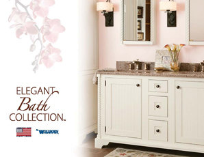 Elegant Bath White Vanity Suite with mirrors