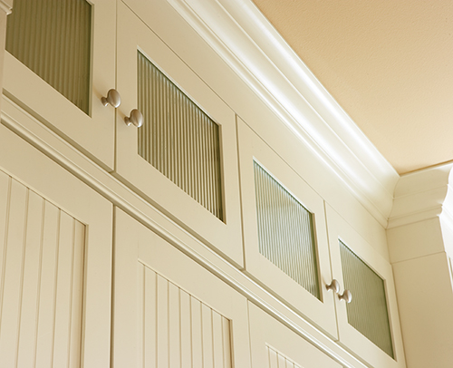LAUNDRY DECORATIVE DOORS WITH REEDED GLASS