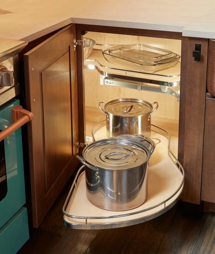 Blind kitchen corner cabinet pullout functional shelf