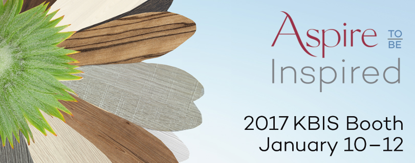 KBIS 2017 booth display Aspire to be Inspired cabinetry