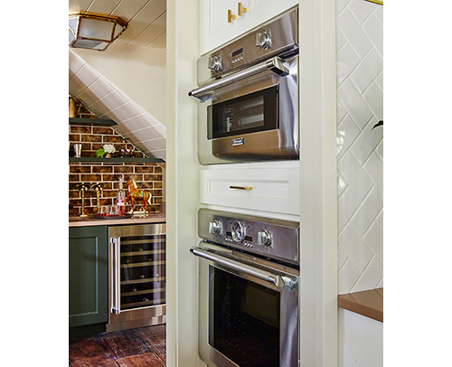 Kitchen - 102 inch High Double Oven Cabinet with a False Drawer Head Added, Wellborn Divinity, Off-White Finish