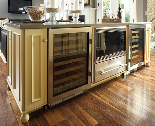 KITCHEN ISLAND WITH BEVERAGE COOLERS