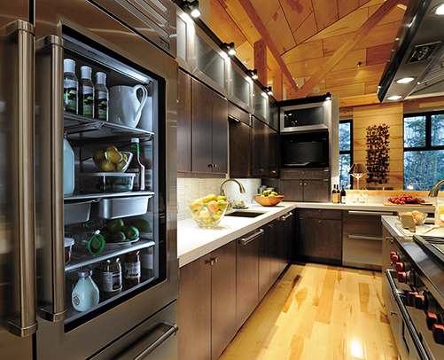 KITCHEN - MILAN MAPLE, SHADOW CHARCOAL WALL CABINETS