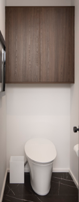 MASTER BATH<br> The cabinet wall is designed to have easy access for all bathroom necessities.