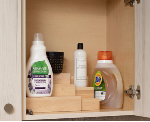 MASTER BATH<br> Tiered Spice Storage Shelves are the ultimate organizational piece.