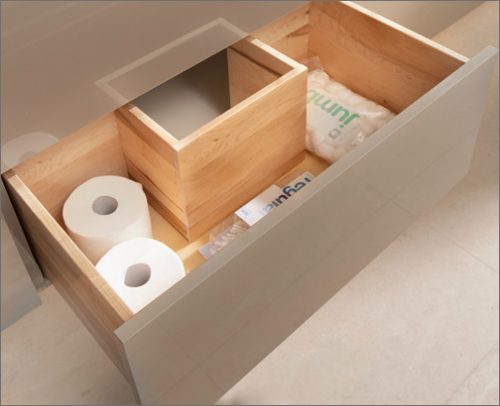 MASTER BATH<br> Bath cabinets with Wall Mount Vanity U-Drawer are excellent for every bathroom needs.