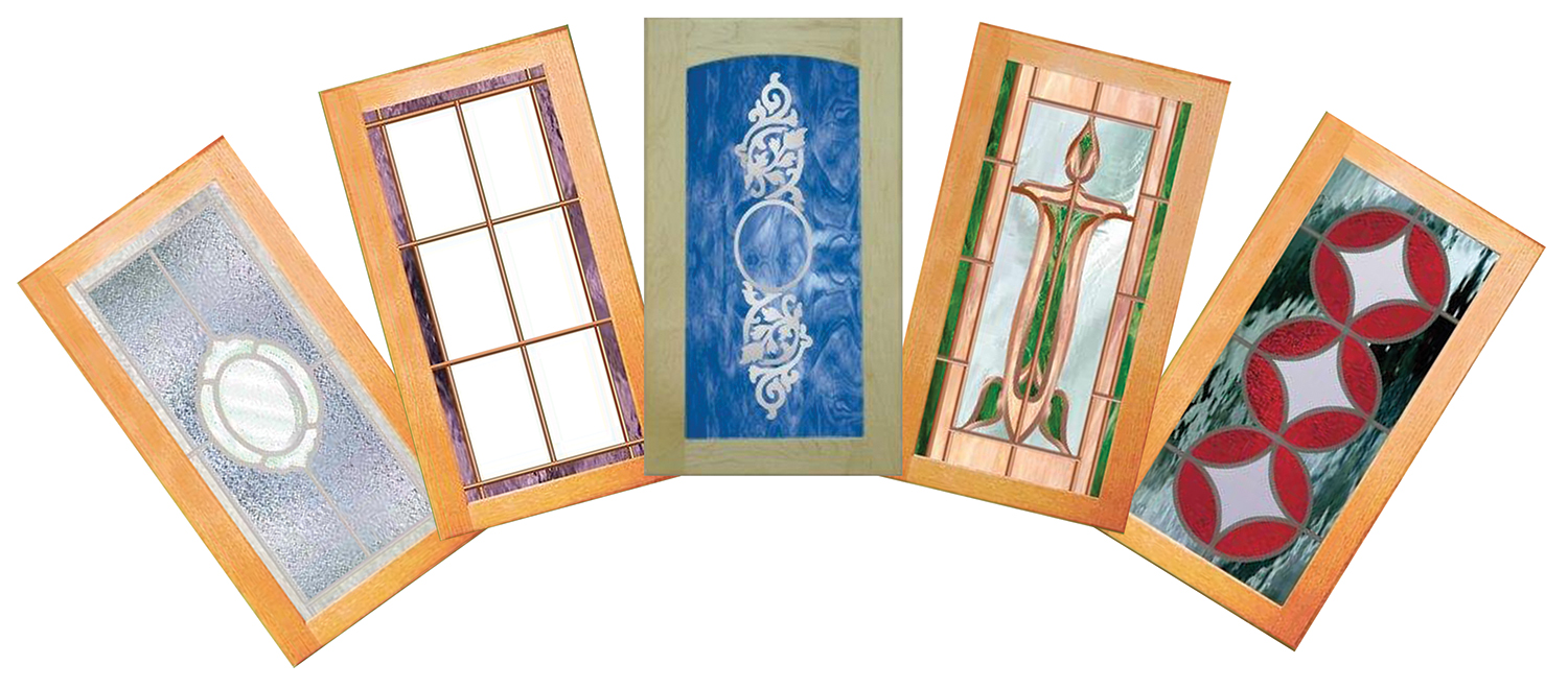 Middlefield decorative glass, stained glass, and leaded glass cabinet doors