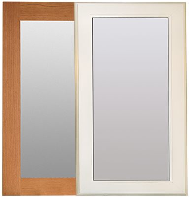 Stained designer mirror frame option and painted Décor Mirror option