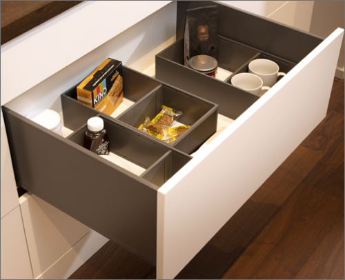 MORNING BAR<br> These cabinets are classified as superior deep drawer divider that have organization on a new level of style and function.