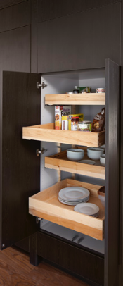 PANTRY<br> These sliding shelves are purposeful in giving all the organization necessary for any pantry.