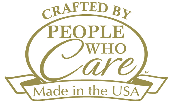 Crafted By People Who Care, Made in the USA Logo
