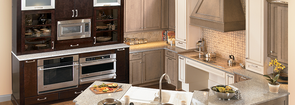 Two tone Active Living, accessible cabinetry, kitchen design
