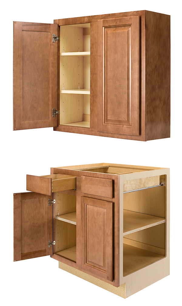 Select All Plywood Wall and Base Cabinet Construction information