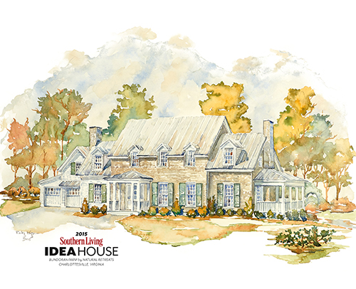 2015 SOUTHERN LIVING IDEA HOUSE<br>ALBEMARLE COUNTY, VA BUNDORAN FARM, PRESERVATION DEVELOPEMENT