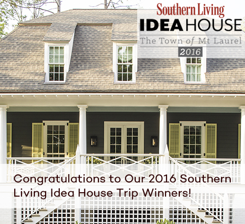SOUTHERN LIVING IDEA HOUSE TRIP WINNERS