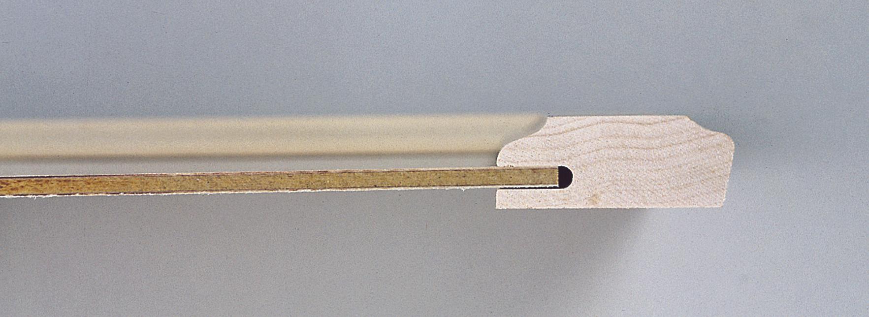 Recessed door panel cutaway photo
