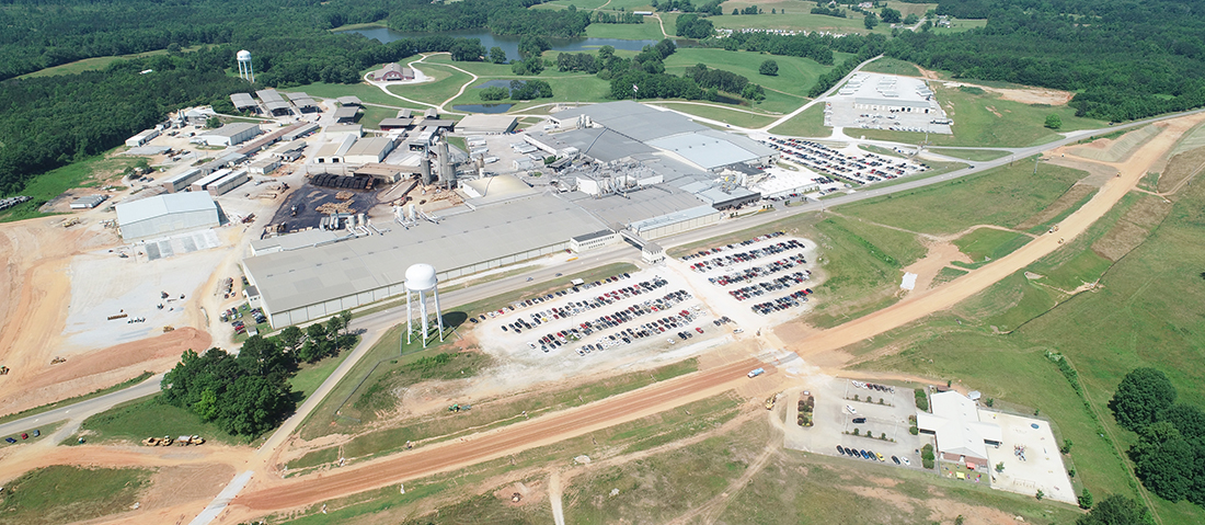 Current Aerial photo of Wellborn Cabinets, Inc. Factory in Ashland, AL