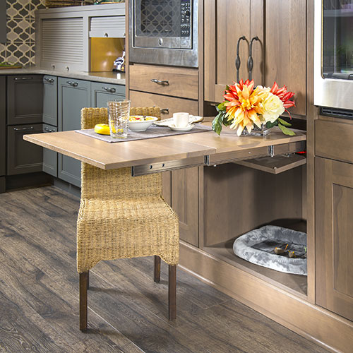Pullout table for kitchen - You Draw It