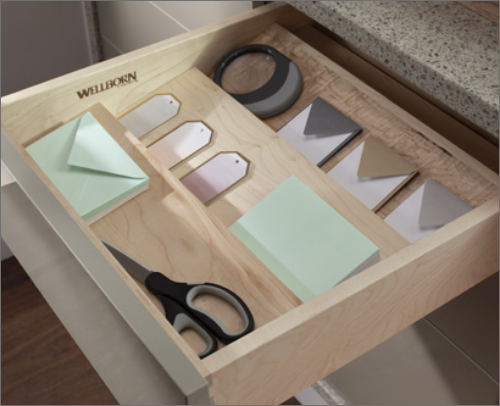 MASTER BEDROOM DESK<br>This multipurpose spice drawer is great for any setting, especially in the office to help organize.