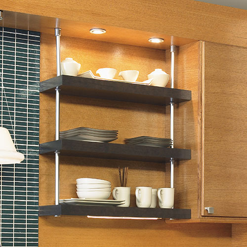 Open shelving kitchen storage solution