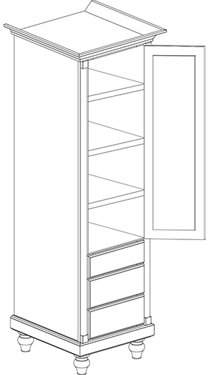 Tall Colonie Cabinet with Legs
