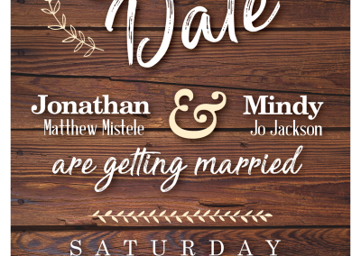 Mindy Jackson: Save the Date Invitation