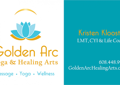 Golden Arc Yoga & Healing Arts: Business Card