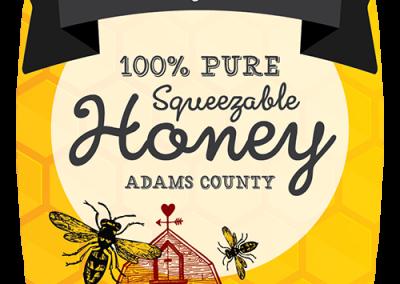 sticker label graphic design honey farm