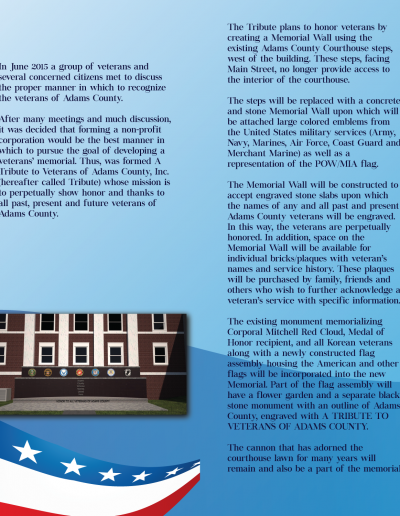 A Tribute to Veterans of Adams County: 4-Panel Brochure