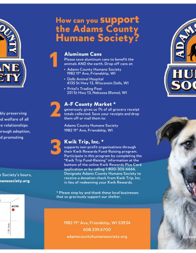 Adams County Humane Society: Brochure