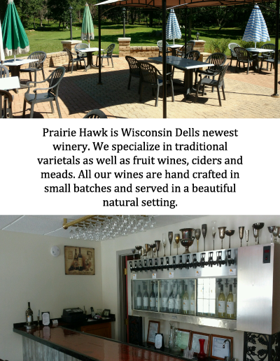 rack card local winery wisconsin dells