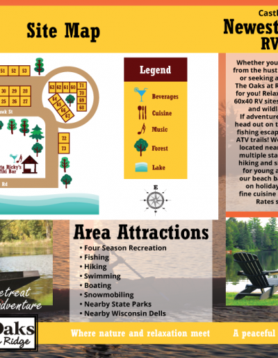 The Oaks at Carlson's Rustic Ridge: Brochure & Map Design