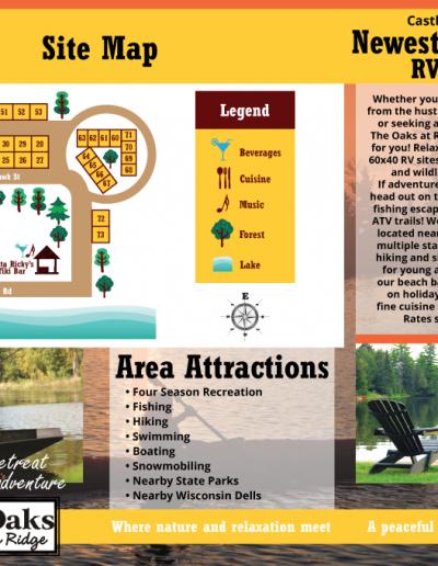 brochure map design campground restaurant
