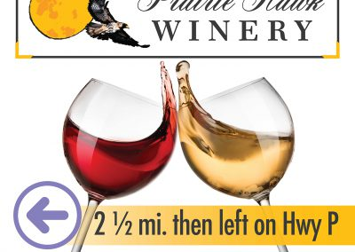 Prairie Hawk Winery: Billboard