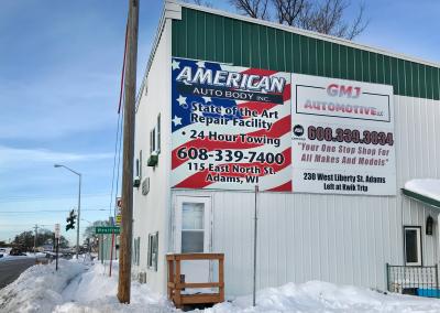 American Auto Body: Sign