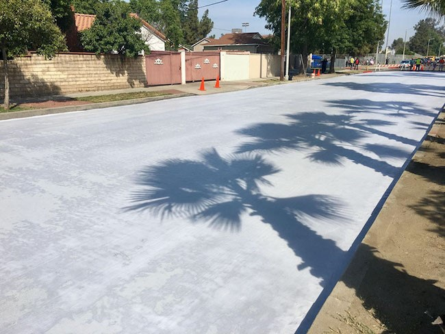 They're painting the streets of Los Angeles in white – and the reason couldn't be better