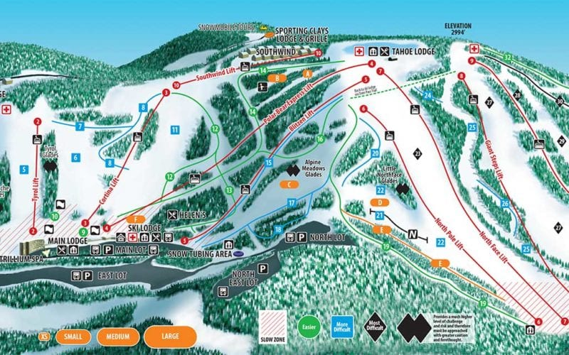 Seven Springs Trail Map