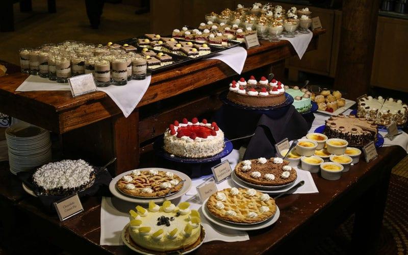 Slopeside Dining Room desserts