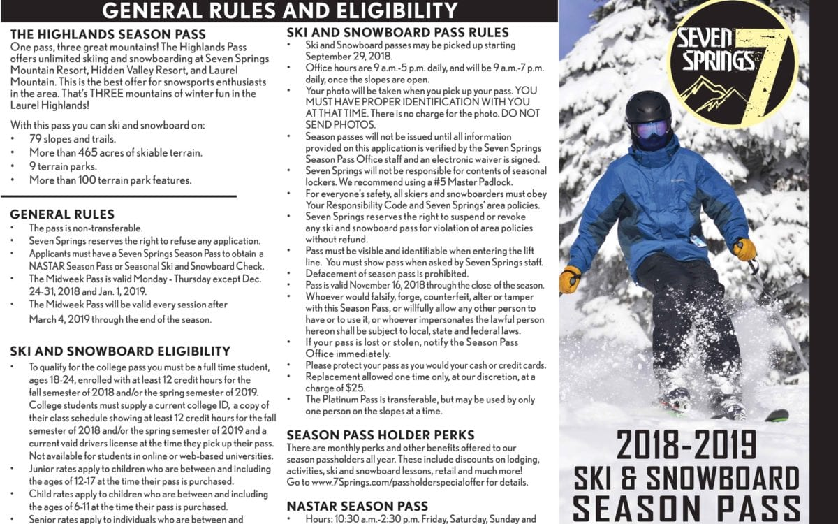 Ski & Snowboard Season Pass Application