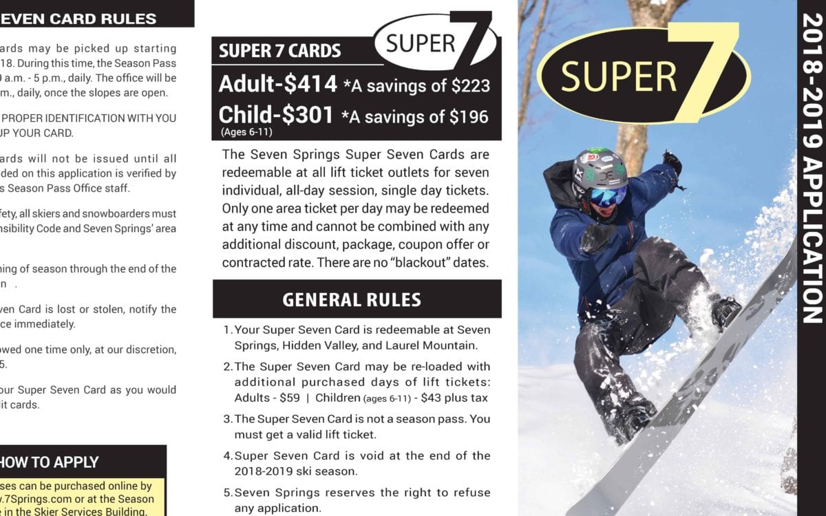 Super Seven Card Application