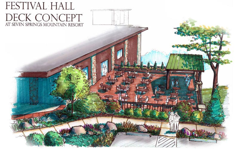 Festival Hall Concept Drawing