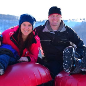 Family Snow Tubing Party