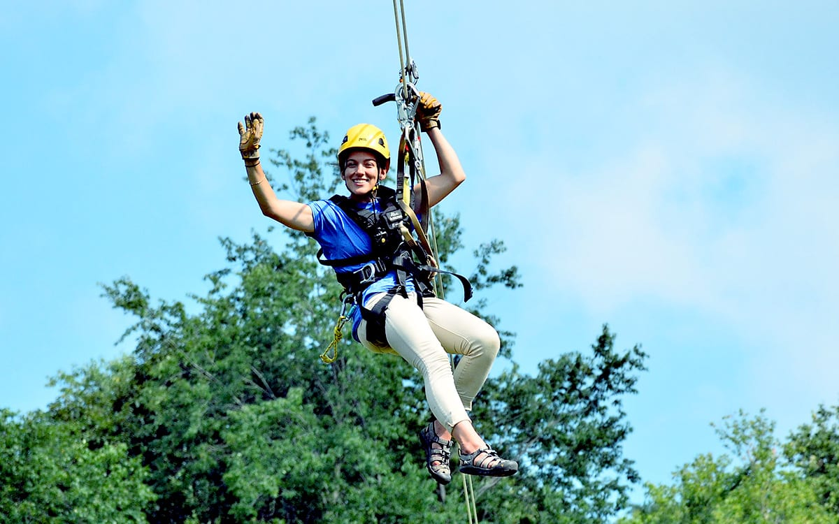 Summer Zipline Employee