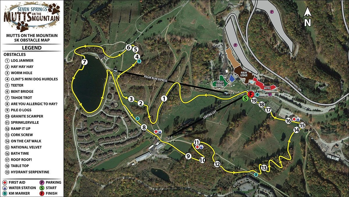Mutts on the Mountain 5k Course Map