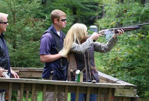 Sporting Clays Shooter and Instructors