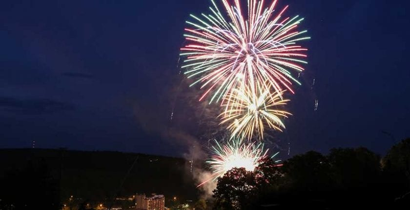 Fireworks at Seven Springs