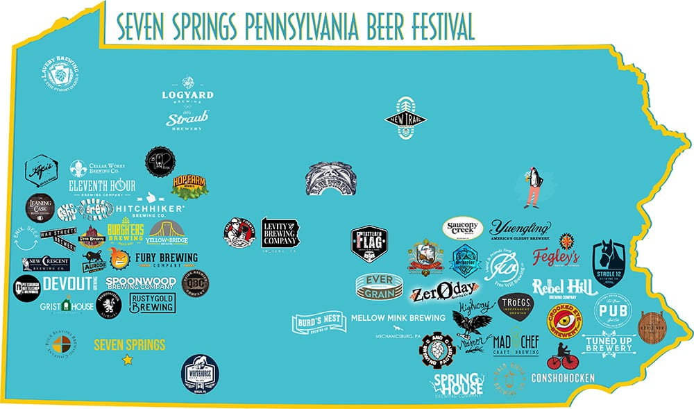 PA Beer Festival Brewery Map