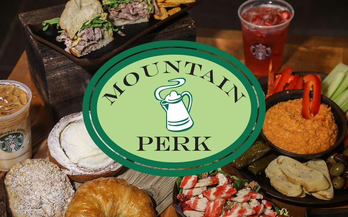Mountain Perk Logo & Food