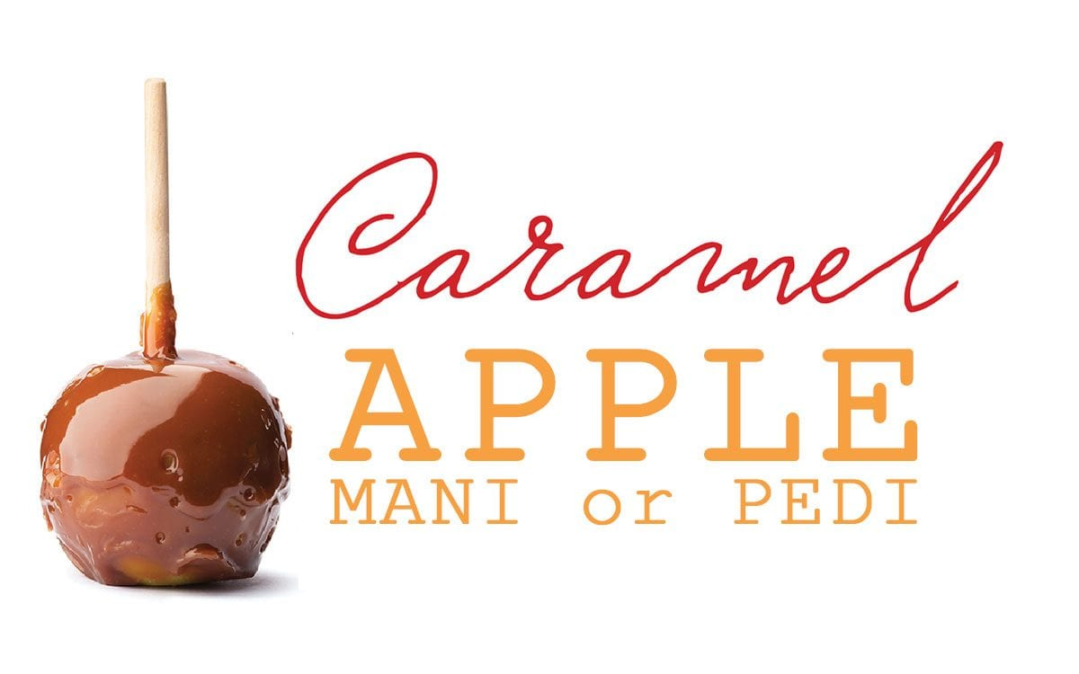 Caramel Apple Mani or Pedi Logo